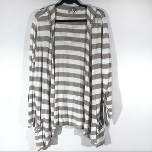 Zenergy chico's striped cardigan hood 3 = Xl 16